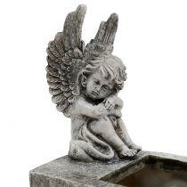 Jardinera con Angel Grey 17cm