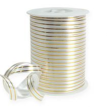 Banda dividida 2 franjas doradas en plata 10 mm 250m