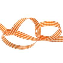 Cinta Regalo Cuadros Naranja 15mm 20m