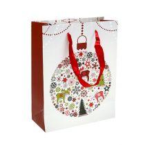 Bolsa de regalo blanca con estampado 18cm x 23cm 1p