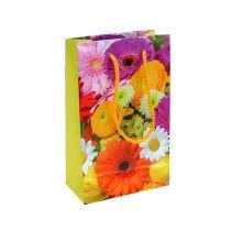 Bolsa de regalo con flores 12cm x19cm 1pc