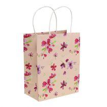 Bolsas de regalo con flores 20cm x 11cm x 25cm 6pcs