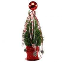 Bola navideña plástico pequeña Ø14cm roja 1p