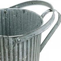 Regadera para plantar, jarra metálica decorativa, jardinera Ø19,5cm