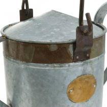 Regadera decorativa jardinera de metal cesta colgante de aspecto retro 58 × 23 × 32cm