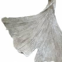 Grave decoración hoja de ginkgo para colgar 10cm 3pcs