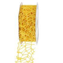 Cinta de rejilla amarilla 40mm 10m