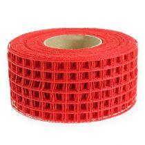 Cinta de malla 4,5cm x 10m roja