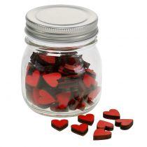 Corazón rojo en el cristal 9cm
