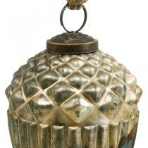 Bellotas para colgar, frutas de otoño, adornos para árboles, vidrio auténtico, aspecto antiguo Ø7,5cm H10,5cm 2 piezas