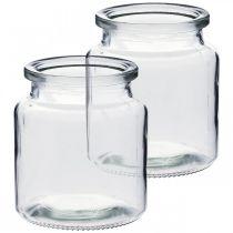 Recipiente de vidrio para llenado, florero, decoración de mesa, linterna de vidrio 2 piezas