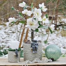 Bola de cristal para colgar cristal azul vintage decoración navideña Ø15cm