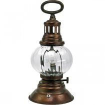 Linterna de tormenta LED, lámpara de metal, lámpara decorativa, aspecto vintage Ø12.5cm H30cm