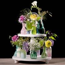 Florero de vidrio Farmer's Silver Pink H11cm 6pcs