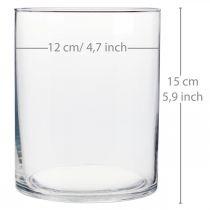Florero de vidrio Ø12cm H15cm