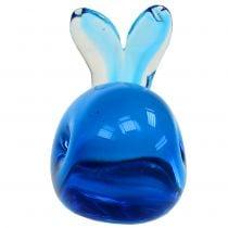 Ballena de cristal Azul L12cm