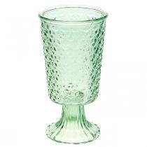 Farol de vidrio, copa de vidrio con base, recipiente de vidrio Ø10cm H18.5cm