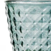 Copa de vidrio con pie, farol de vidrio Ø11cm H15.5cm