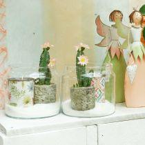 Farol de cristal, jarrón decorativo, decoración de velas Ø18.5cm H21cm