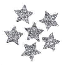 Brillo estrella plata Ø2,5cm 48pcs