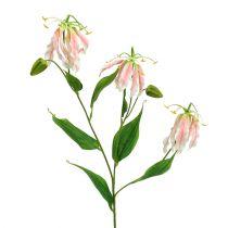 Gloriosa rosa-blanco artificial 84cm 3 piezas