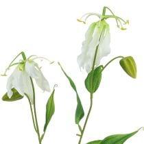 Gloriosa blanco artificial 84cm 3pcs