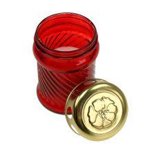 Velas de cristal rojo Ø6cm H11cm 12pcs