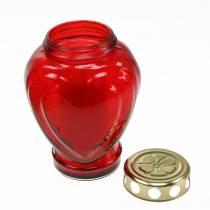Grave corazón claro rojo 11.5cm x 8.5cm H17.5cm 4 piezas