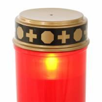 LED luz grave rojo, blanco cálido temporizador con pilas Ø6,8 H12,2cm