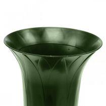 Jarrón grave 42 cm florero verde oscuro decoración de la tumba flores funerarias 5 piezas