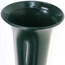 Jarrón sepulcral verde oscuro 31cm 5pcs