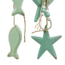 Deco colgante estrella, pez Menta 47cm - 50cm 2pcs