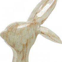 Figura decorativa, conejito, decoración primaveral, Pascua, decoración de madera 30,5 cm