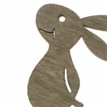 Conejito para esparcir Madera Blanco, crema, marrón Surtido 4cm 72p
