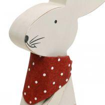 Conejita, decoración primaveral, conejito de madera con un cubo, conejito de Pascua