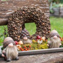 Decoración de otoño corona de bellotas corona natural Ø30cm