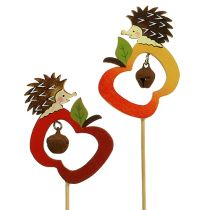 Enchufe de otoño erizo con manzana 7cm 12pcs
