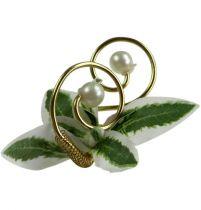 Alfiler de boda con perlas, oro 8cm 24pcs