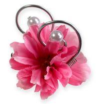Alfiler de boda con perlas, plata 8cm 24pcs