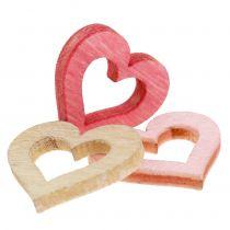 Corazón para rociar rosa, rosa, naturaleza 2cm 144p