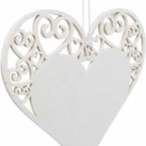 Decoración de corazón para colgar, decoración de boda, colgante de corazón de madera, decoración de corazón, San Valentín 12 piezas
