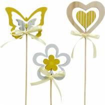 Enchufe decorativo flor y corazón de mariposa, decoración de primavera, enchufe de flor, día de San Valentín 9 piezas
