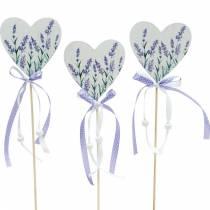 Corazón de lavanda, decoración de verano, corazón para pegar con lavanda, decoración de corazón mediterráneo 6 piezas