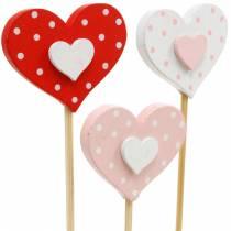 Enchufe decorativo corazón, decoración de boda, decoración de flores para el día de San Valentín, decoración de corazón 24 piezas