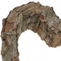 Deco corazón corteza de pino abierta decoración de otoño decoración de tumba 30 × 24 cm
