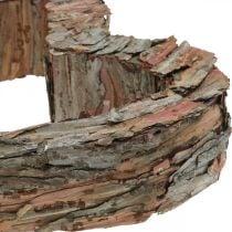 Corteza de pino de madera de corazón deco 40 × 32cm