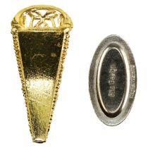 Alfiler de boda con imán dorado 4,5cm