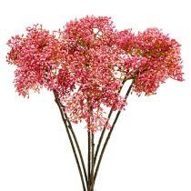 Rama de flor de saúco rosa 54.5cm 4pcs