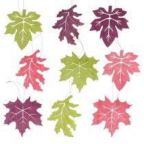 Mezcla de hojas de madera para colgar colores surtidos 15cm 9pcs