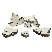 Mezcla de hojas de arce de madera blanqueada 30 piezas